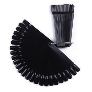 Paletar unghii evantai 50 de pozitii pentru exersare si expunere, negru, inel imagine