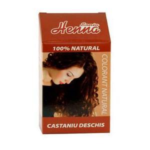 Colorant Natural Henna Sonia, Castaniu Deschis, 100 g imagine