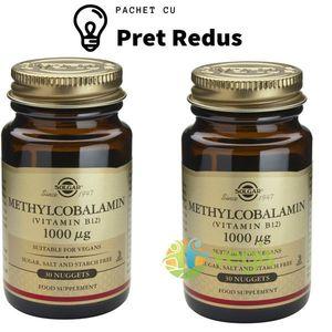 Methylcobalamin (Vitamina B12) 1000mcg 30tb (Metilcobalamina) Sublinguale Pachet 1+1 imagine