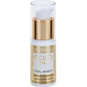 Dermika Gold 24k Total Benefit crema lux de intinerire zona ochilor imagine