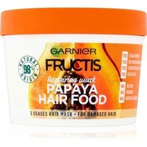 Garnier Fructis Papaya Hair Food mască regeneratoare pentru părul deteriorat imagine
