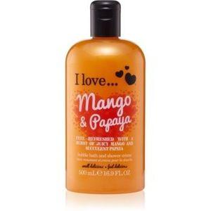 I love... Mango & Papaya cremă de duș și baie imagine