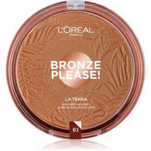 L'Oréal Paris Wake Up & Glow La Terra Bronze Please! bronzer și pudră pentru contur imagine