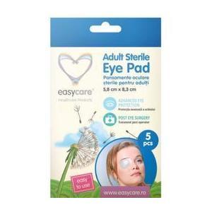 Pansamente Oculare Sterile pentru Adulti Easy Care, 5.8 x 8.3cm, 5 buc imagine