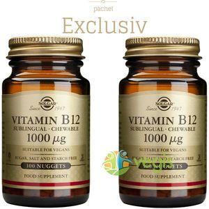 Vitamina B12 1000mcg 100tb (Cobalamina) Pachet 1+1 imagine