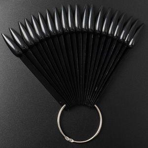 Paletar Unghii Stiletto 40 pozitii pentru exersare si expunere, negru imagine