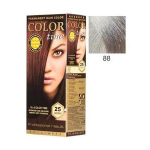 Vopsea Permanenta pentru Par Rosa Impex Color Time, nuanta 88 Silver Blonde imagine