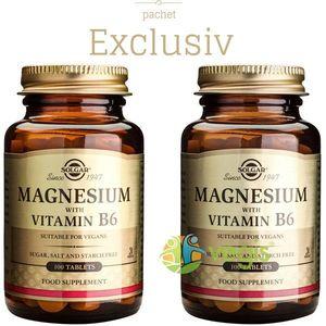Magnesium+B6 100tb (Magneziu cu vitamina B6) Pachet 1+1 imagine