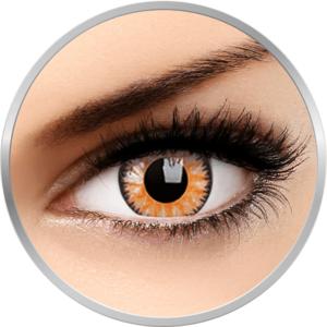Glamour Honey - lentile de contact colorate caprui trimestriale - 90 purtari (2 lentile/cutie) imagine