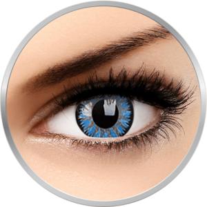 Glamour Aqua - lentile de contact colorate albastre trimestriale - 90 purtari (2 lentile/cutie) imagine