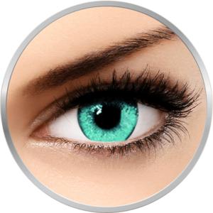 Queen's Solitaire Acqua - lentile de contact colorate albastre trimestriale - 90 purtari (2 lentile/cutie) imagine