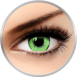 Queen's Solitaire Jade - lentile de contact colorate verzi trimestriale - 90 purtari (2 lentile/cutie) imagine