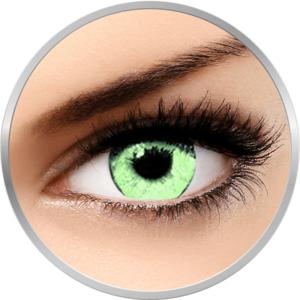 Queen's Solitaire Light Green - lentile de contact colorate verzi trimestriale - 90 purtari (2 lentile/cutie) imagine