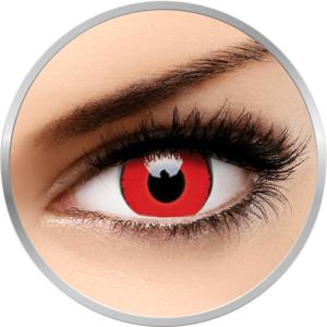 Voldermort - lentile de contact colorate rosii trimestriale - 90 purtari (2 lentile/cutie) imagine