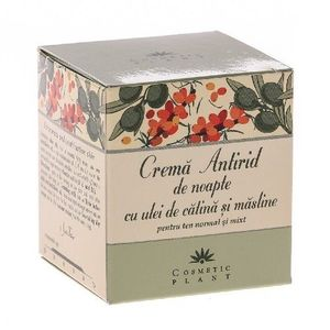 Crema Antirid Noapte Catina+Masline 50ml Cosmetic Plant imagine