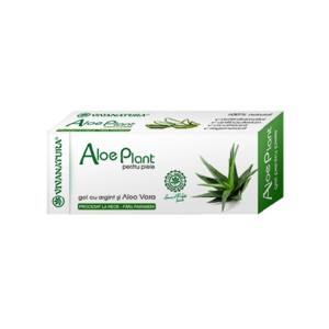 Aloe Plant- Gel cu Argint si Aloe vera 20ml Viva Natura imagine