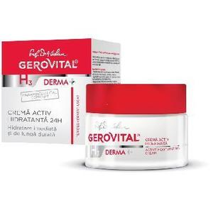 Crema Activ Hidratanta 24H 50ml Gerovital imagine