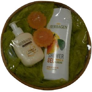 Set Cadou Cos Herbagen Hand&Body Orange imagine