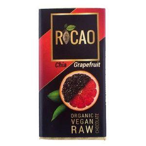 Ciocolata cu Chia si Grapefruit Raw Bio 27gr Rocao imagine