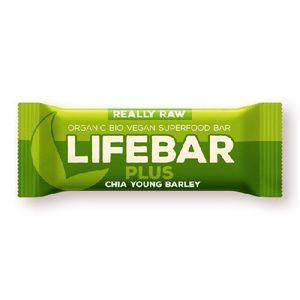 Baton cu Chia si Orz Verde Raw Bio 47gr Lifefood imagine