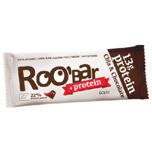 Baton Proteic cu Chia si Ciocolata Raw Bio 60gr (13g Proteine) imagine