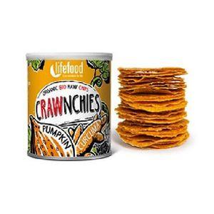 Chips Crawnchies cu Dovleac si Turmeric Raw Bio 30gr Lifefood imagine