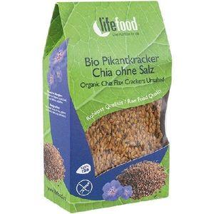 Crackers cu Chia Raw Bio 90gr Lifefood imagine