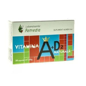 VITAMINA A+D2 NATURALA 30CPS imagine