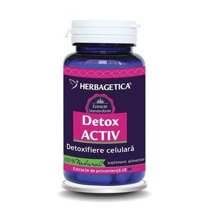 DETOX ACTIV 30CPS HERBAGETICA imagine