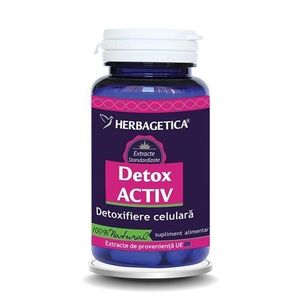 Detox Activ 60cps Herbagetica imagine
