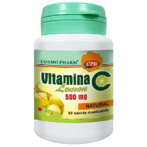 Vitamina C 500mg Lemon 60tab Cosmopharm imagine