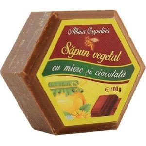 Sapun cu Miere & Ciocolata 100gr Albina Carpatina imagine