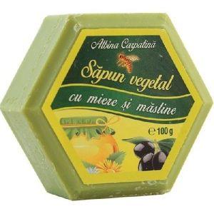 Sapun cu Miere & Ulei de Masline 100gr Albina Carpatina imagine