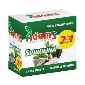 Pachet Alga Spirulina 400mg 150tab Adams 1+1 GRATUIT imagine