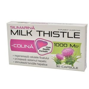 Milk Thistle 30 cps Zdrovit Romimex imagine