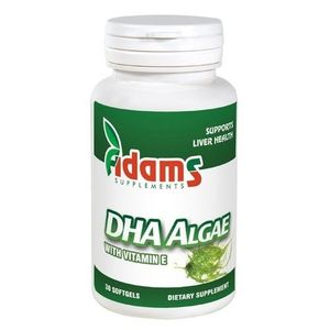DHA Algae 200mg 30cps. Adams Supplements imagine