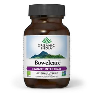 ORGANIC INDIA Bowelcare | Tranzit Intestinal, Combate Balonarea, 60 caps veg, BIO imagine