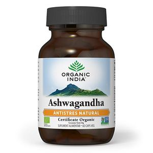 ORGANIC INDIA Ashwagandha, Antistres Natural, Certificat Organic, 60 caps veg imagine