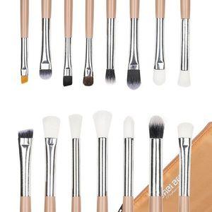 Set 15 Pensule Machiaj Precise Makeup, Nude + Borseta Cadou imagine