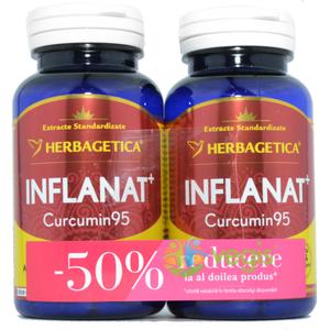 Inflanat Curcumin 95 60cps Pachet 1+1-50% imagine