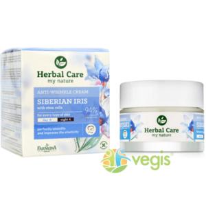 Crema de Fata Antirid cu Iris Siberian si Celule Stem de Zi/Noapte 50ml Herbal Care imagine