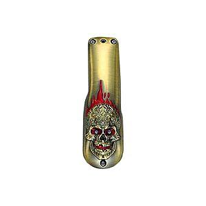 REVER - Carcasă metalica 3D Skull - Gold imagine