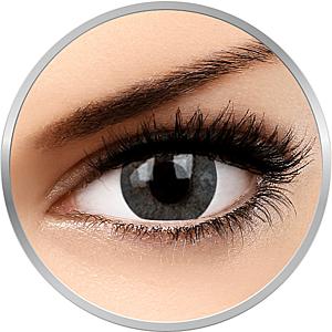 Basic Gray - lentile de contact colorate gri trimestriale - 90 purtari (2 lentile/cutie) imagine