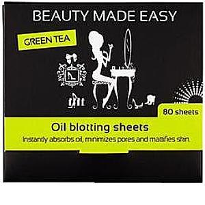Foite Matifiante pentru Ten cu Ceai Verde Beauty Made Easy, 80 buc imagine