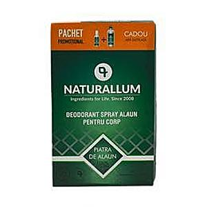 Pachet Alaun Corp - Deo Spray pentru Corp 100 ml + Refill Apa Distilata 500 ml Naturallum imagine