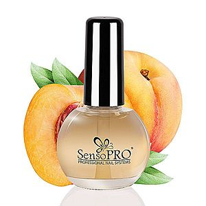 Ulei Cuticule cu Pensula Peach SensoPRO, 15 ml imagine
