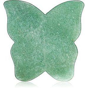 Crystallove Butterfly Aventurine Gua Sha Plate accesoriu de masaj imagine