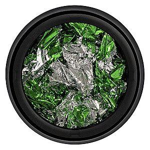 Foita Unghii LUXORISE - Unique Green & Silver #06 imagine