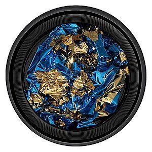 Foita Unghii LUXORISE - Unique Blue & Gold #04 imagine