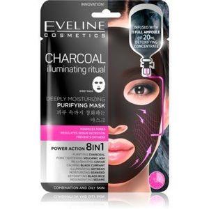 Eveline Cosmetics Charcoal Illuminating Ritual mască de curățare și super-hidratare imagine